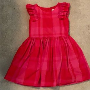 Adorable ruffle plaid party dress